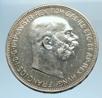 1912 AUSTRIA KING FRANZ JOSEPH I Eagle Genuine Proof Silver 2 Corona Coin i74104