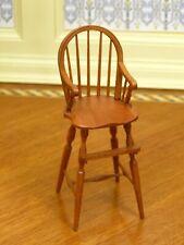 William Clinger Child's Windsor High Chair - Artisan Dollhouse Miniature