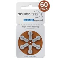 PowerOne Hearing Aid Batteries PR41, p312, SIZE 312 (60 Batteries)