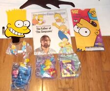 Vintage The Simpsons BRAND NEW LOT of items- GRAB BAG Promo bart head ornament +