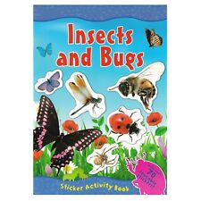 Insects And Bugs A4 Sticker Book Over 70 Reusable Stickers Kids Educational