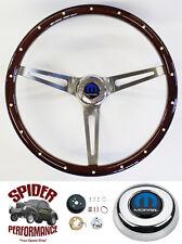 "1968-1969 Charger Dart Coronet steering wheel MOPAR 15"" MUSCLE CAR MAHOGANY"