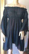 Lucy In Disguise Black Cotton Babydoll Dress 0-2 XS