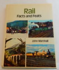 Rail Facts and Feats by John Marshall (1974, Hardcover) Railroad Trains