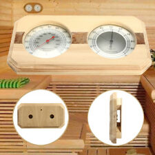 20-140°wooden Hygrothermograph Thermometer Hygrometer Sauna Room Accessory UK