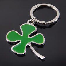 Four Leaf Clover Lucky Good Wish Keychain Key Ring Collectable Metal Pendants