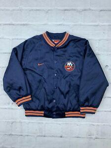 Nike NFL New York Islanders Kids S 8/10 100% Polyester Windbreaker Jacket Blue