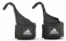 Adidas Gym Weight Lifting Hook Straps Hand Bar Wrist Brace Support Grip One Size