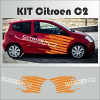 Citroën C2 VTS - Kit complet racing autocollant sticker adhésif