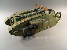 117907: Blechspielzeug: Panzer Mark I.Modell aus Blech von Hand gefertigt, TOP