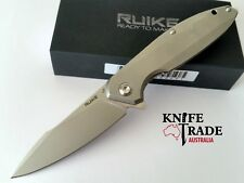 Ruike Folding Knife Stonewashed 14c28n Stainless Steel Frame Lock #p128sf
