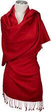 Pashmina Schal, Rot Stola 70 x 198  Nepal 70% Cashmere 30% Seide, silk Red Scarf
