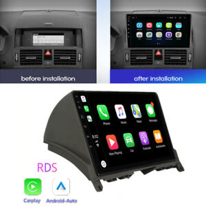 For 2007-2010 Mercedes Benz C Class W204 S204 Head Unit 9'' Carplay Android Auto
