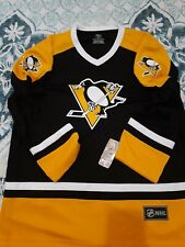 Nhl Pittsburgh Penguins Home Colors Jersey Blank Back Pullover Lightweight Nwt