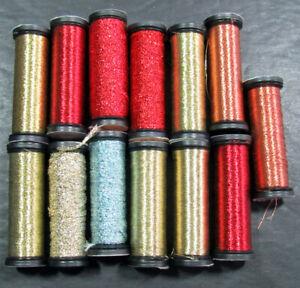 13x Needlepoint/Embroidery THREAD KREINIK Cord+1/16 Ribbon metallic-XW110