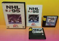 NHL '95 '96  - Sega Genesis Game - Rare & Tested - 2 NHL Hockey Games Lot  !