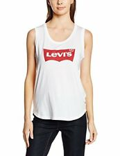 Levi's the Muscle Tank Tops L-festival Tank Whit