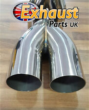 "76mm 3"" Ideal Tailpipe Collector Exhaust Y-pipe Joiner Custom  2 into 1"