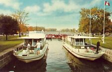 RIDEAU CANAL SYSTEM ONT CANADA Pleasure craft wait in lock J. L. Gibbons photo