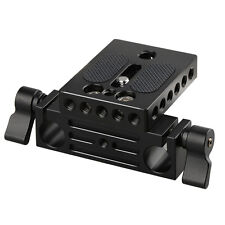 CAMVATE Camera Baseplate with 15mm Railblock Clamp for DSLR Rod Support System