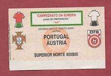 Orig.Ticket    EM Qualifikation  04.09.1991  PORTUGAL - ÖSTERREICH  !!  SELTEN