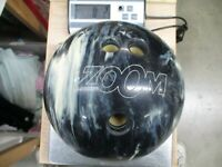 Ebonite Zoom Glow 8 lb Black and Blue Swirl Bowling Ball (AL)