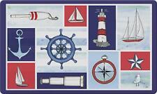 """Home Garden Nautical Collage Doormat, 18"""" x 30"""" Multicolor Welcome Doormat"""