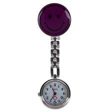 Medical nurse pocket watch,quartz movement,brooch pendant pocket watch purp X3W3