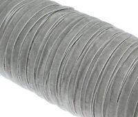 Samtband 12mm / 5M Grau Samtborte Schmuckband Schleifenband Zierborte C270