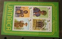 OLD BOY SCOUT GIRL GUIDE STAMP COLLECTION, JAMAICA 1982 MINT SHEET OF 4