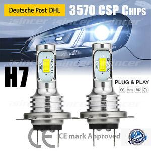 2× H7 LED Nebelscheinwerfer Kit Auto 12V 55W CSP 6500K Lampen VS Xenon Halogen