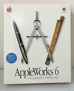 APPLE APPLEWORKS 6 SOFTWARE FOR MAC M8389Z/A VERSION 6.2 - NEW