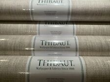 1 DblRl THIBAUT Artessa Weave Neutral Hand Crafted Paperweave Wallpaper $400R