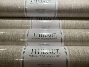 1 DblRl THIBAUT Artessa Weave Neutral Hand Crafted Paperweave Wallpaper $400R