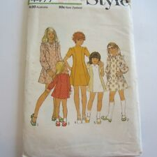 unused vintage 1970s Sewing Pattern Style 3334 Girls Dress size 8 Factory Folded