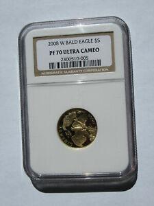 2008-W Bald Eagle $5 Gold Proof Commemorative - NGC PF70UC