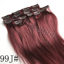 Full Head 100% Clip in Human Hair Extensions 14inch-30inch High Quality