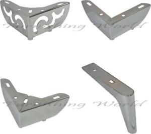 4 x Luxury Metal LEGS / FEET for uk FURNITURE sofas, stools, table, bed quality