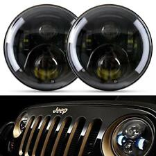 2X 7Inch Round LED Headlights Hi/Lo Beam DRL Light for Jeep Wrangler JK LJ TJ
