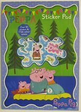 PEPPA Pig Autoadesivo Pad Libro per bambini attività adesivi con 30 ADESIVI