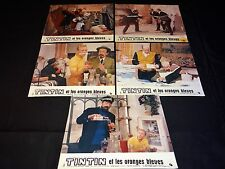 TINTIN et les oranges bleues tres rare photos cinema lobby cards 1964