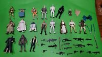 Lot of 18 Star Wars Action Figures + Accessories & Weapons Chewie, Yoda, Han