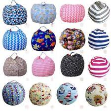 Children Stuffed Animals Plush Toy Storage Bean Bag Soft Pouch Fabric Chair Fun
