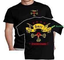 Dartclub Dart T Shirt Scheibe Flights Dartsport Dartshirt Darthemd Übergrößen 32