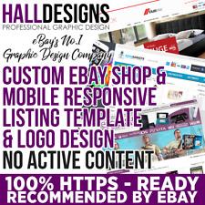Custom eBay Store Shop & Logo & Listing Template Design Service 2018 Compliant