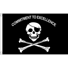 3X5 Jolly Roger Commitment To Excellence 3'x5' Flag USA SELLER Raiders