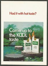 KOOL cigarettes - Filter Kings & Filter Longs - 1969 Vintage Print Ad