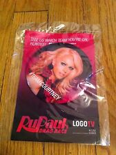 RUPAUL Ru Paul Drag Race Queen LGBT Community  TV Promo Button Team Courtney NEW