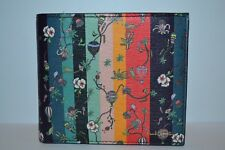 Paul Smith Floral Stripe Coin Pouch Wallet New