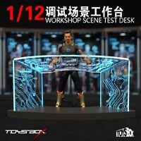 TOYS-BOX 1/12 Comicave SHF Workshop Scene Test Desk Fit Iron Man Figure
